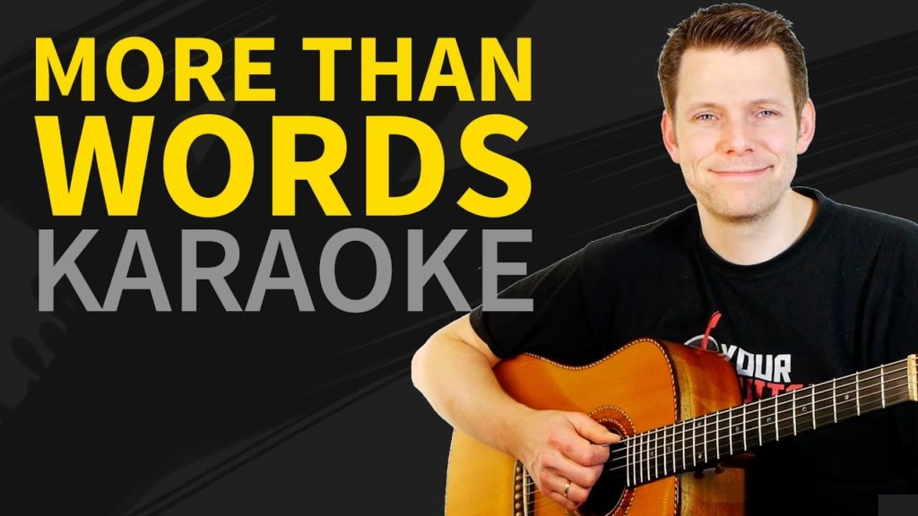 more than words backing track