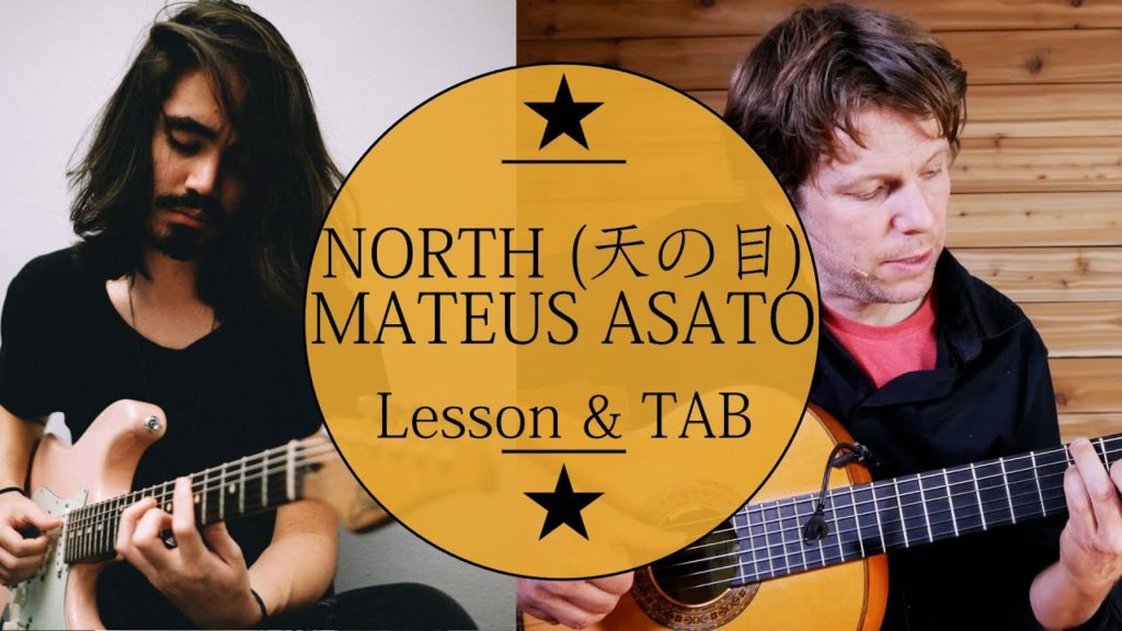 Learn how to play Mateus Asato North (天の目) guitar lesson. Easy step by step guitar tutorial with tablature available at patreon.