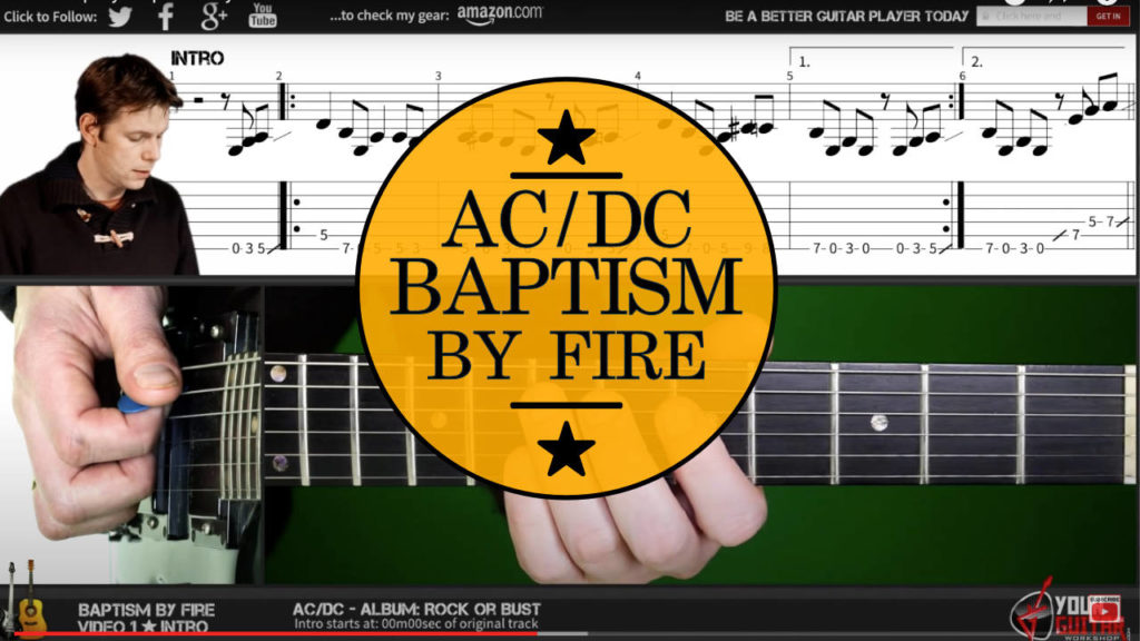 ac dc baptism by fire chords guitar lesson