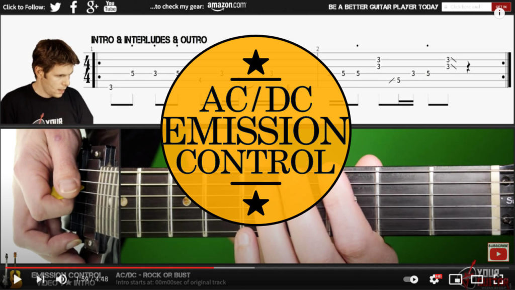 Learn how to play AC DC Emission Control tab Guitar Lesson. Easy step by step guitar tutorial. Guitarist: Angus Young