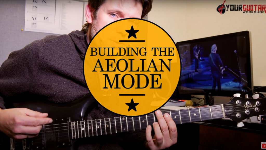 Learn how to play the Natural minor Scale: Aeolian Mode Guitar Lesson! Building the Aeolian scale from the minor pentatonic scale, adding 2 intervals.