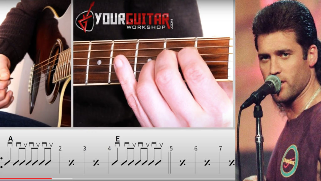 Billy Ray Cyrus Achy Breaky Heart chords guitar lesson. Easy step by step guitar tutorial with tablature available for patrons.