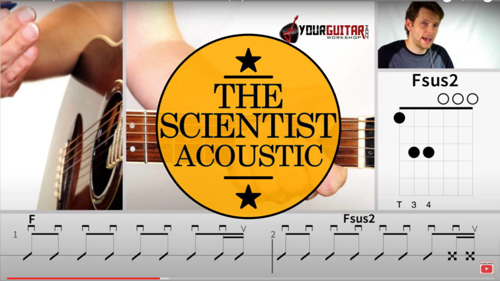 Learn how to play Coldplay The Scientist Chords Guitar Lesson. Easy step by step acoustic guitar tutorial with tab available for patrons.