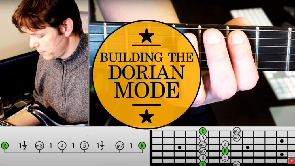 Learn how to play guitar scales: Dorian Mode Guitar Lesson! Building the Dorian scale from the minor pentatonic scale, adding 2 intervals.
