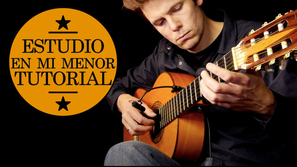 "Classical guitar lesson for ""Estudio En Minor"" by Francisco Tarrega. Easy step by step tutorial with tablature available for patrons."