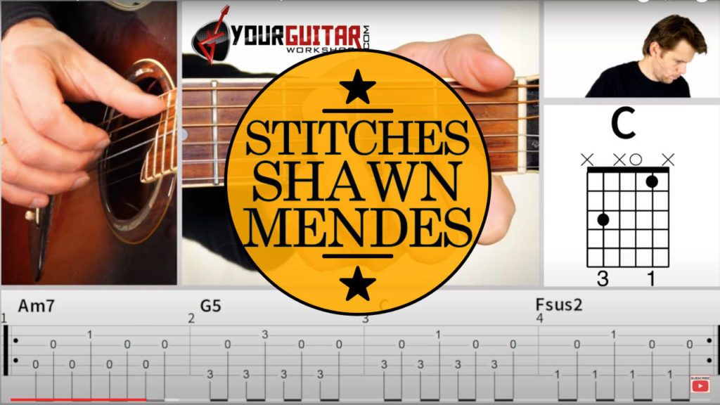 Learn how to play Stitches Shawn Mendes Guitar Tutorial. Easy step by step acoustic guitar lesson with tab available for patrons. (Hailee Steinfeld)