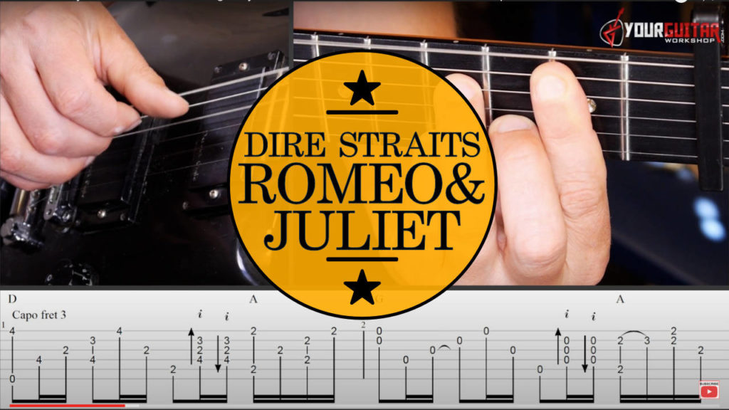 Learn how to play Romeo And Juliet Dire Straits Guitar Lesson & Tablature. Easy step by step video tutorial with tab available for patrons.