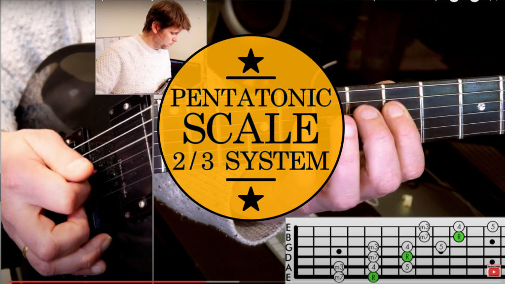 Learn how to play super fast pentatonic licks! Minor pentatonic scale guitar lesson in which you learn about the 2/3 system.