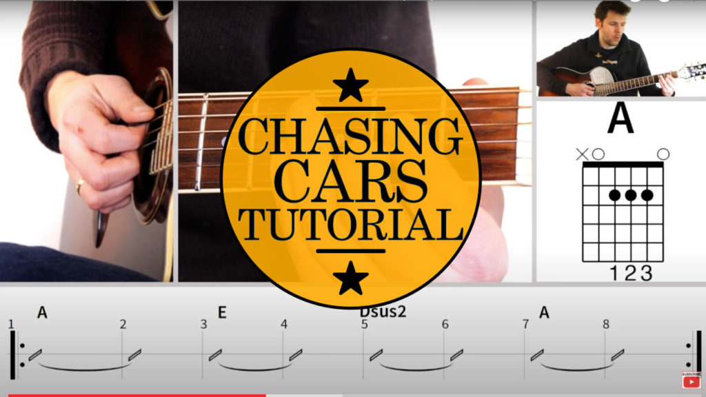Learn how to play Guitar. Snow Patrol Chasing Cars chords Guitar Lesson. Easy step by step tutorial with video instruction for beginners.