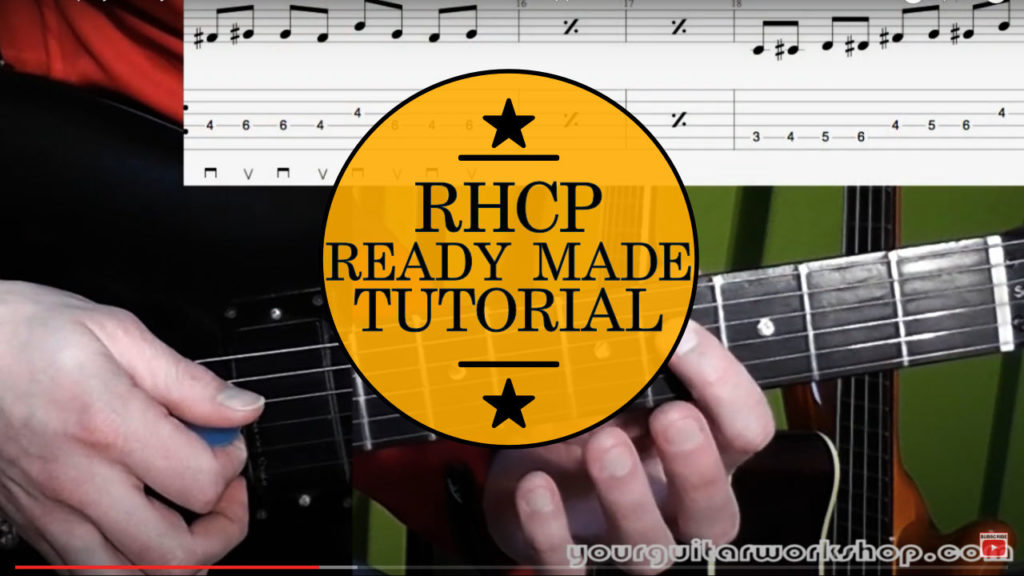 Learn how to play Red Hot Chili Peppers Ready Made Guitar Lesson with this easy step by step guitar tutorial. Tab is on screen for ease of use.